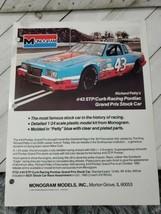 Monogram 1985 form 1pg advertisement stp churn racing Pontiac stock car (A10) - $9.90