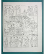 MYTHOLOGY Gods Greek & Roman Priests Vestals Sacrifice - 1825 Antique Print - $9.79