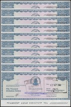 Zimbabwe 50,000 (50000) Dollars Cheque Amount Field X 10 Pieces, P-19, 2... - $28.99