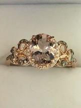 EFFY 14K Rose Gold Morganite and 1/2ct TW Diamond Ring (Size 11 1/4) - $685.00