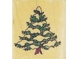 Happy Holly Days, Snowman, and Tree Rubber Stamps, Set of 3