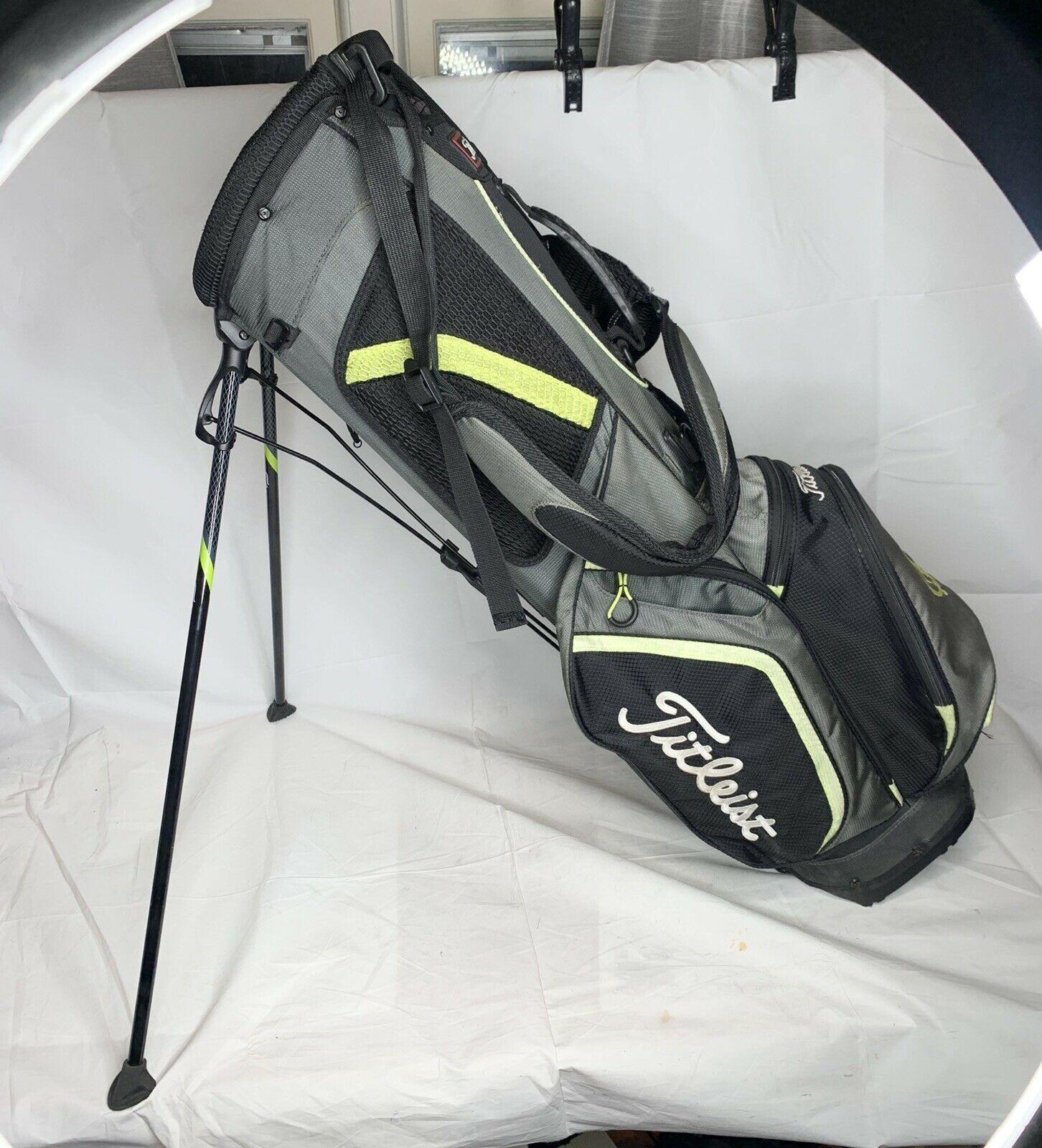 Titleist 3-Way Golf Bag Green/Gray Nice Condition - $159.99