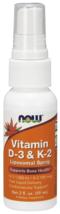Vitamin D-3 and K-2 Liposomal Spray Now Foods 2 oz Spray - $18.50