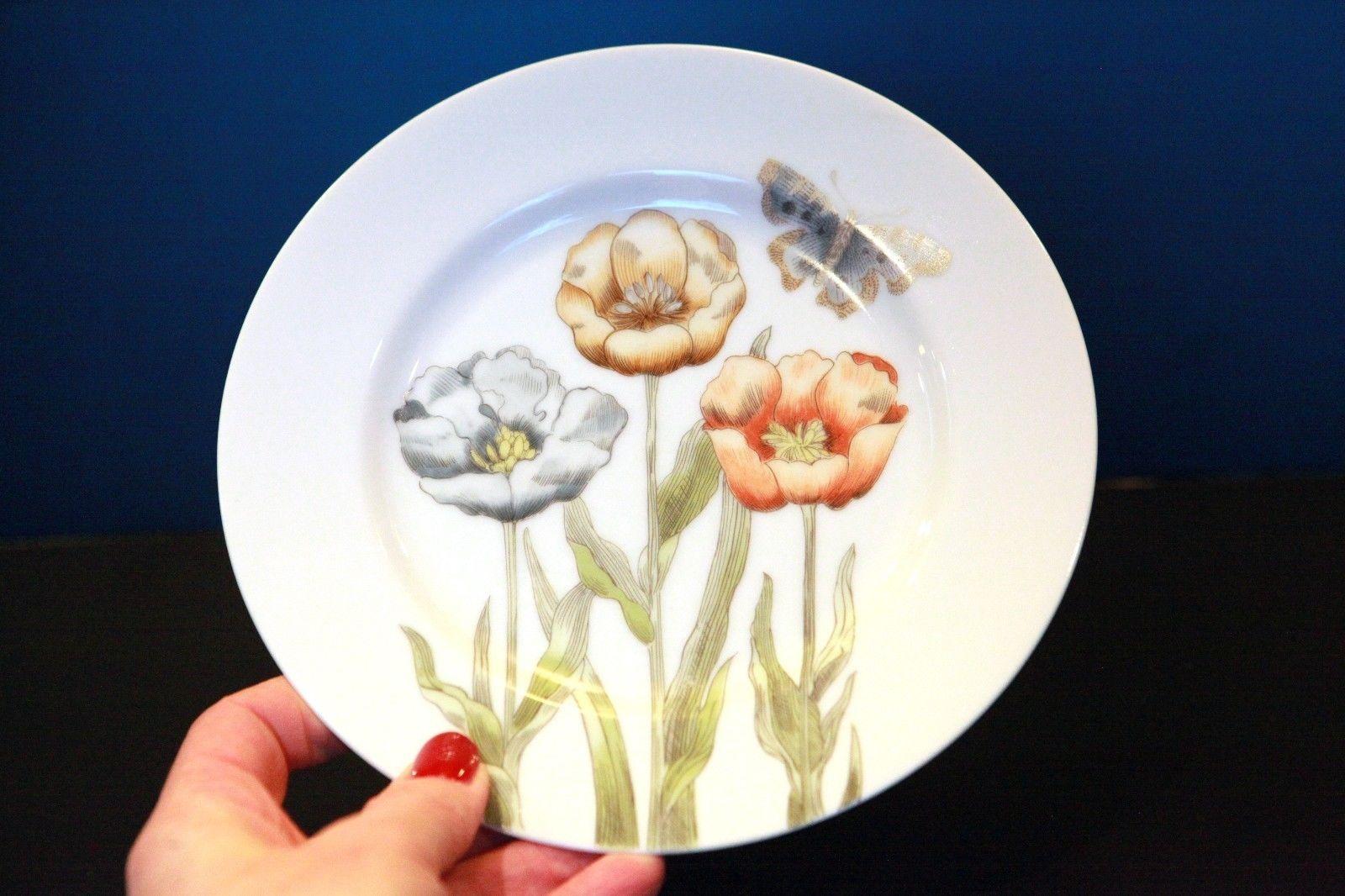 """Fitz /& Floyd Asparagus Salad Plate s 8 3//8"""""""