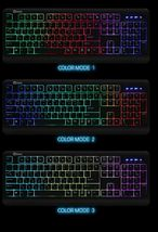 QSENN GP-K5000LED USB Wired Korean English Keyboard for PC image 3