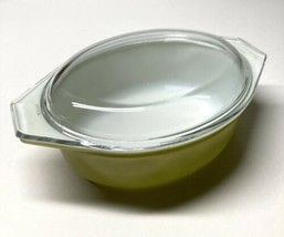 Vintage Pyrex Verde Avocado Green 1 1/2 QT Oval Ovenware 043 W/Lid #943C22 Used - $39.59