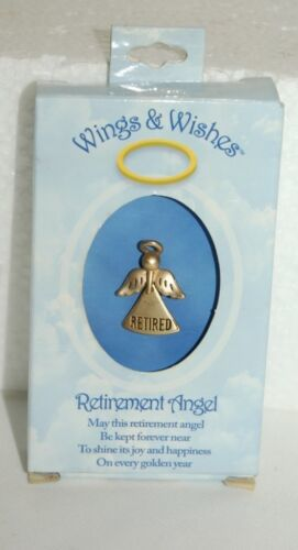 DM Merchandising Wings Wishes Gold Colored Retired Angel