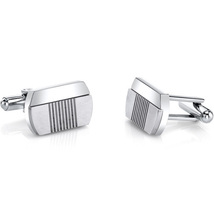 Abstract Modern Layered Stainless Steel Cuff links - $55.99