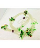 Vintage Bead Plant Hanger Fun Plastic Fruit Beading 46 Inch Crazy Fun - $36.14