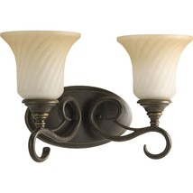 Forged Bronze Finish Scrolled Metalwork Bath Vanity Progress Lighting P2... - $77.25