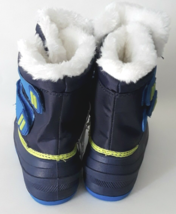 Cat & Jack Toddler Boys Blue Lev Faux Fur Thermolite Insulted Winter Snow Boots image 4