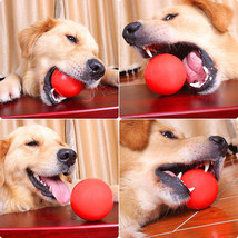 Pet Dog Chew Toy Elastic Indestructible Solid Rubber Red Ball Pet Dog Tr... - $26.35 CAD