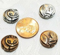 CAT FINE PEWTER ROUND BEAD 13x14x4.5mm; 2mm Hole image 2