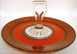Art Deco Relish Jeannette Glass Mint Orange  - $78.00