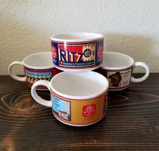 Lot of 4 Nabisco Cracker SOUP MUG CUP BOWL Premium Soda Crackers Ritz - $45.00