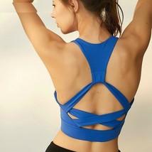Women Sport Bra Dry Running Yoga Top Back Workout Brassiere Anti-sweat N... - $32.97