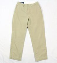 Polo Ralph Lauren 30X29 Prospect Pant VINTAGE 100% Cotton Slacks Flat Front Mens - $21.11