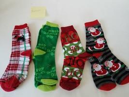 Medium Socks With Dog~HoHo~St. Patrick Day~Santa Claus Patterns 4-Pairs - $26.18