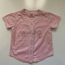 MLB Baseball Jersey Women's Size M Pink Boston Red Sox Blank - $16.79