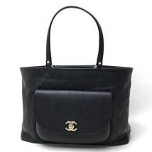 AUTHENTIC CHANEL CC Matelasse Tote Bag Shoulder Bag Black - $2,350.00