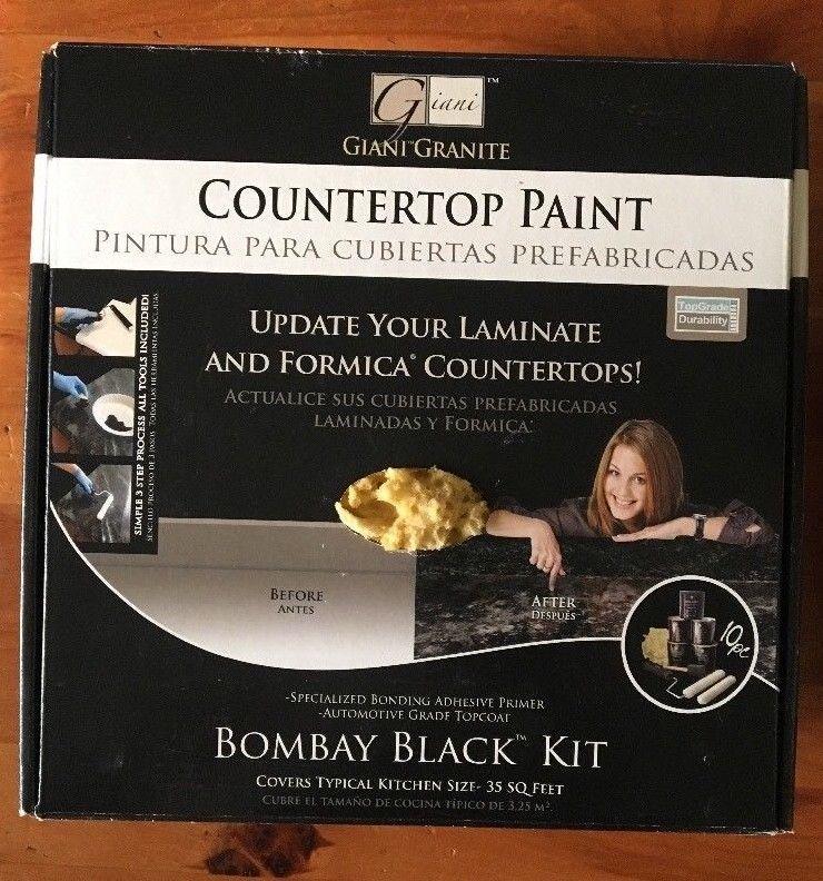 colores de pintura valspar para cocina Giani Countertop Paint Kit Bombay Black NEW And 50 Similar