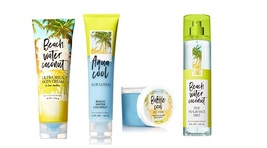 Bath & Body Works Beach Water Coconut Set- Cream, Aloe Lotion, Mist & Je... - $33.95