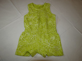 Calvin Klein Jeans girls green white 6 youth kids romper 3811042-99 NWT *^ - $22.51