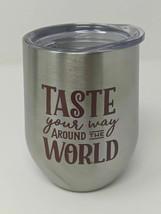 Taste Your Way Around The World Food And Wine 25th Metal Wine Tumbler Disney Par - $18.69