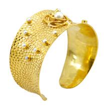 elegant Multi Gemstone Gold Plated Multi Bangle genuine normaly US gift - $21.77