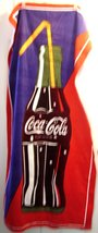 COKE Coca Cola Bottle with Straw Beach Towel  Never Used  - $19.99