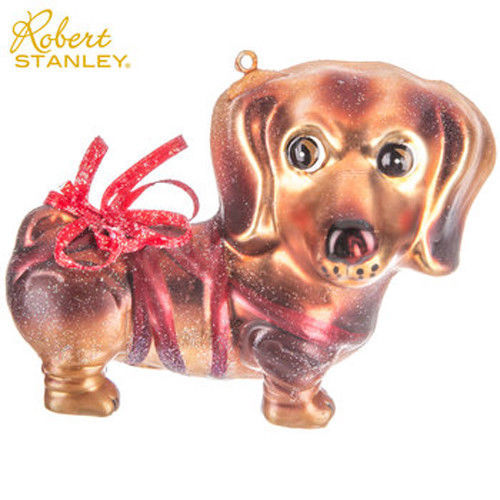 Glitter Dachshund Dog Ornament Robert Stanly Christmas Decorations Glitter NEW
