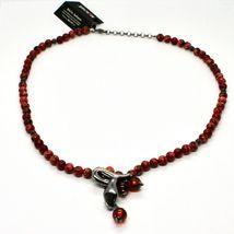 925 Silberne Halskette mit Schlange Brüniert und Jaspis, Made in Italy By image 3