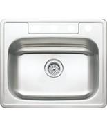 Aspen 25W X 22L X 8D Single Bowl Topmount 4-Hole 20G Stainless Steel Sink - $175.68