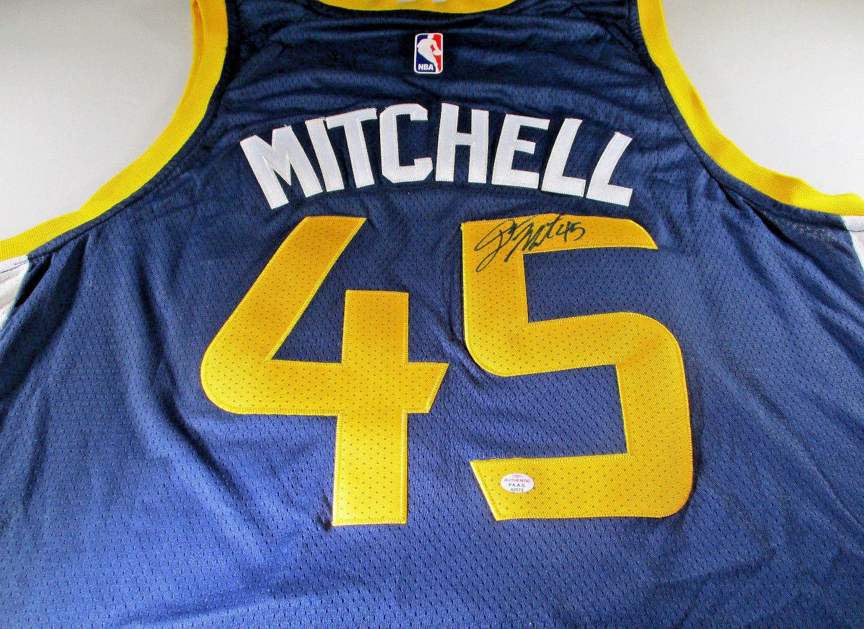 wholesale dealer a5a65 84f78 DONOVAN MITCHELL / HAND SIGNED UTAH JAZZ BLUE NBA LOGO BASKETBALL JERSEY /  COA