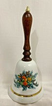 Christmas 1985 Bell Avon Wood Handle Gifts Fruit Greenery Porcelain Collectibles - $9.89
