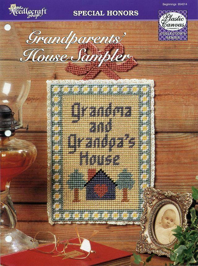 Grandparents' House Sampler Plastic Canvas PATTERN/INSTRUCTIONS/NEW
