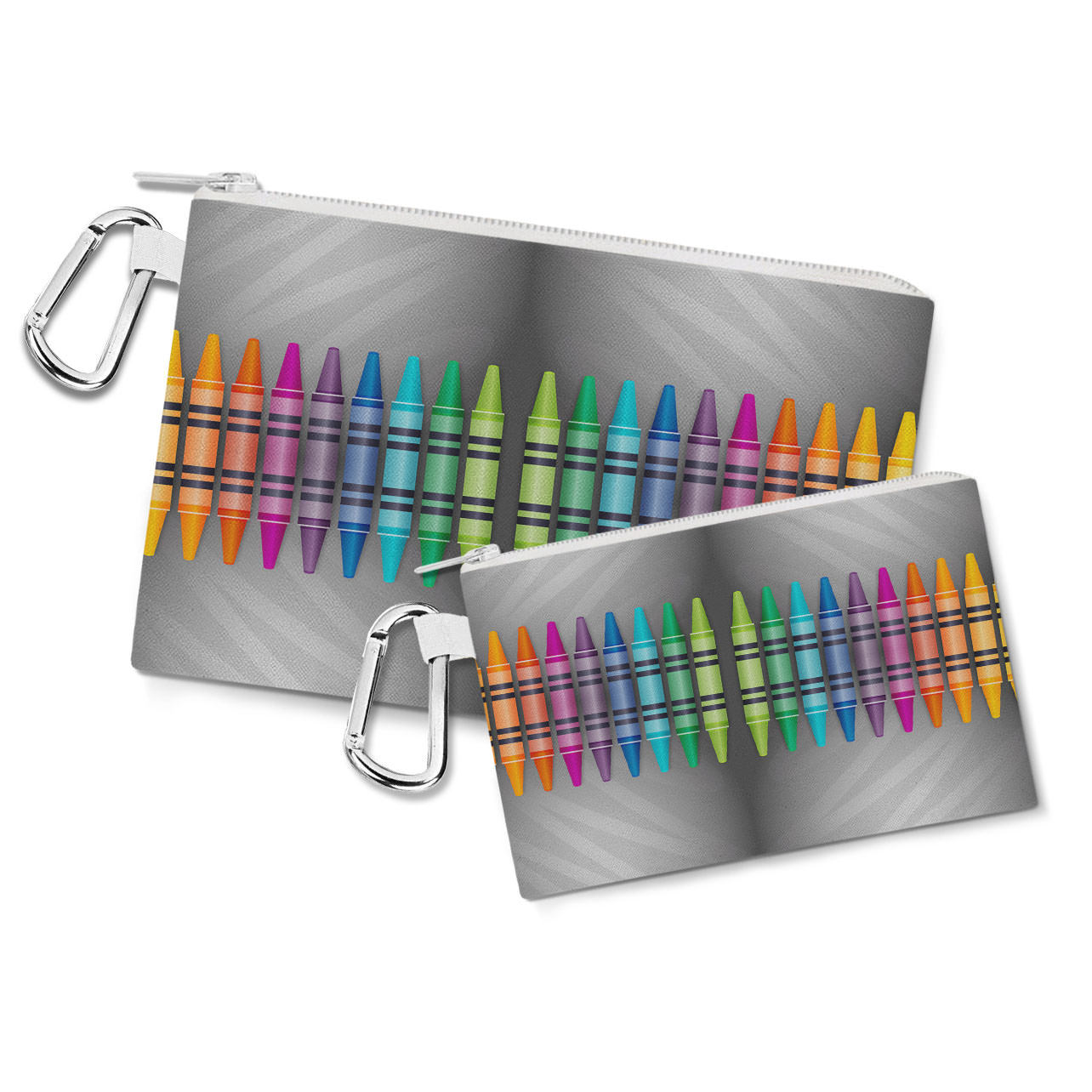 Rainbow Crayons Canvas Zip Pouch