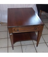 Walnut Mersman Side Table / End Table with Drawer  (T748) - $299.00