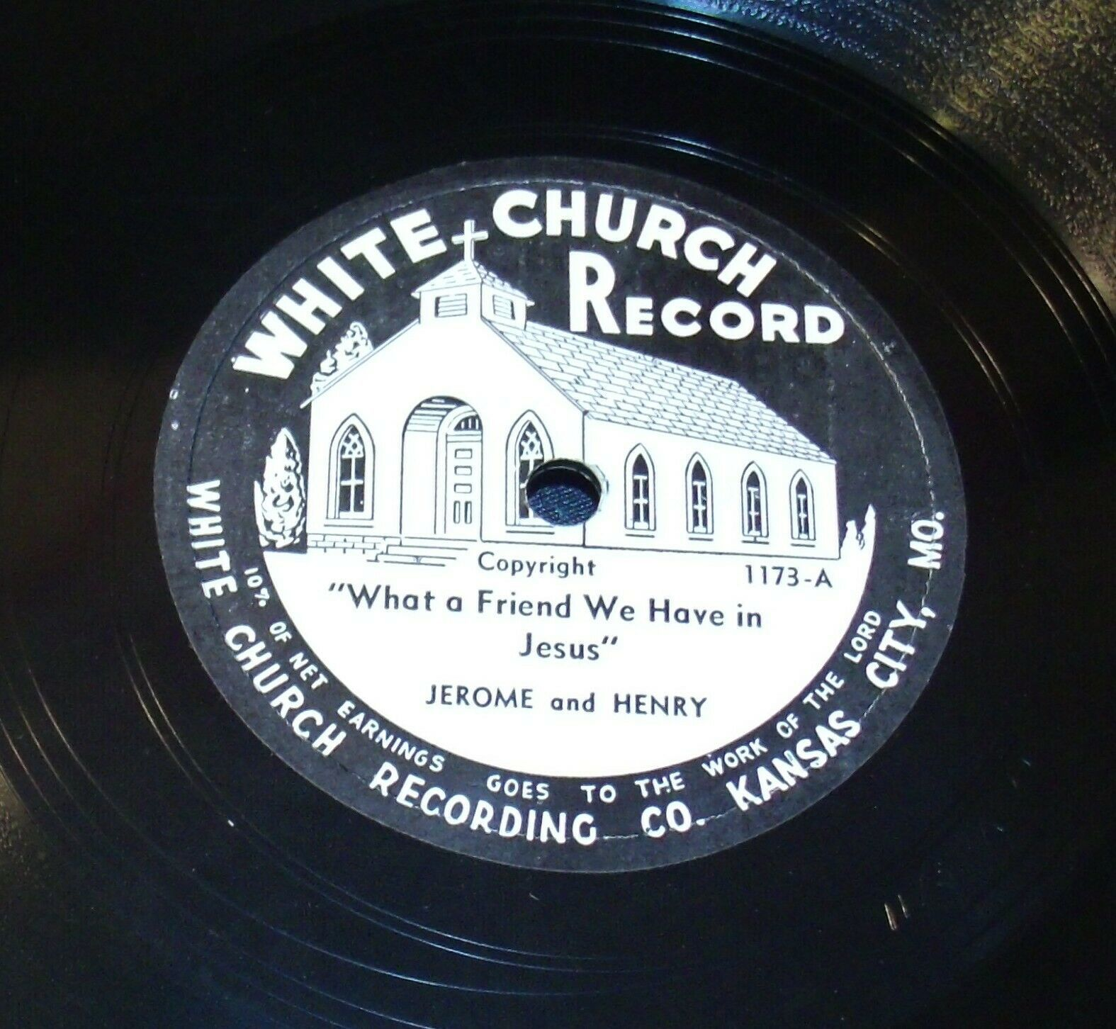 White Church Record # 1173 AA-191720R Vintage Collectible