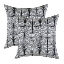TreeWool, (2 Pack) Throw Pillow Covers Matrix Accent in Soft Cotton Fabr... - $15.99