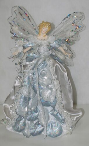 Generic  A11584 15 inch Silver Lace and Glitter Angel Tree Topper