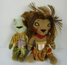 Disney The Lion King Broadway Musical Plush Simba and Nala Play Show Set... - $19.79