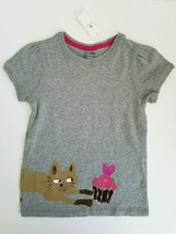 GapKids Girls Graphic Top Short Sleeved Gray Size 5 years NWT - $17.99