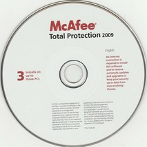 McAfee Total Protection 2009 - $19.80