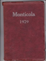 1929 Sandpoint  High School Year Book, Monticola, Sandpoint, Idaho - $48.51