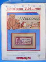 Dimensions Counted Cross Stitch Kit Teddy Bear Heirloom Welcome Christma... - $9.49