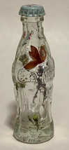 Coke Coca-Cola Mini Miniature crystal glass bottle Dried Colorful Flowers inside image 3