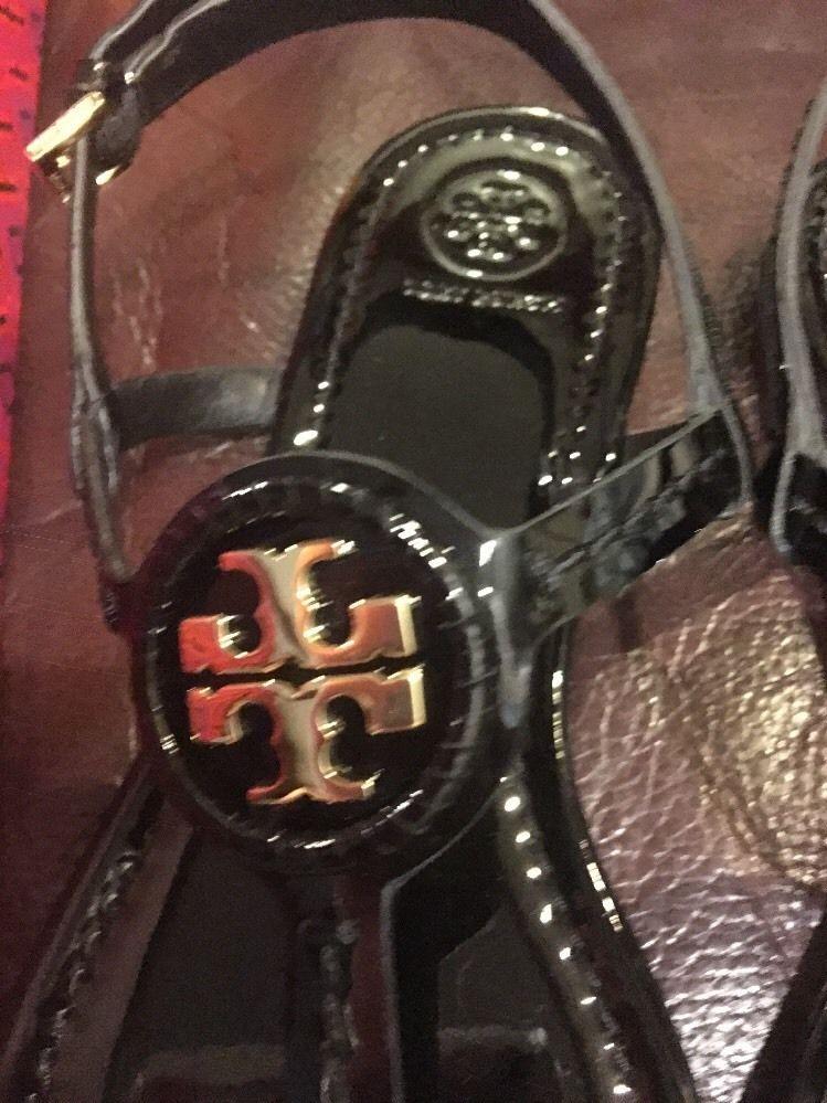 4affd7eb17e Tory Burch Dillan Sandal Soft Patent leather Black NIB 8.5 Authentic Shoes  Women