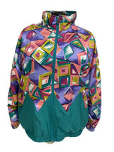Vintage 90' Lavon women's jacket zipper front multicolor made in Taiwan ... - $29.48