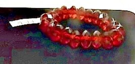 Red Beaded Stretch Bracelet New With Tag - $3.99
